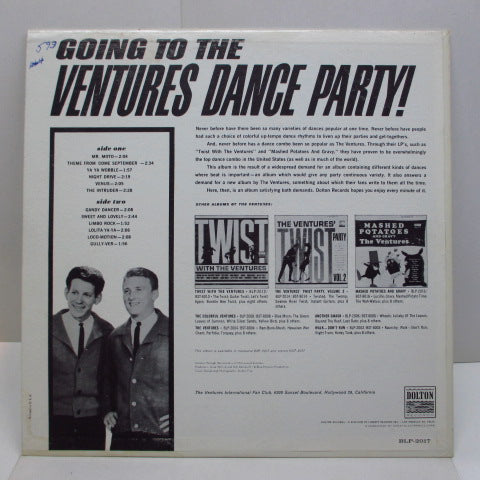 VENTURES - Going To The Ventures Dance Party ! (US Orig.MONO)