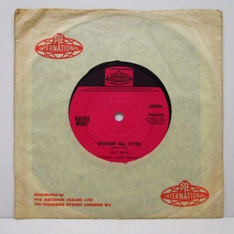 "GUESS WHO ? - Shakin' All Over / Till We Kissed (UK Orig.7""+CS)"