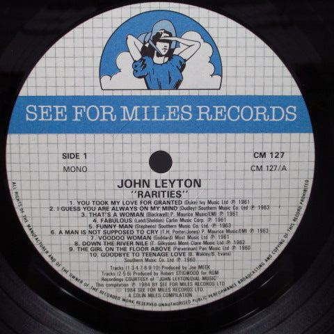JOHN LEYTON - Rarities (UK Orig.LP)