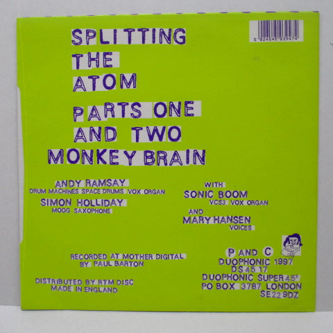 "SPLITTING THE ATOM - Splitting The Atom +2 (UK Orig.7"")"