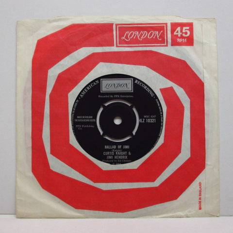 "CURTIS KNIGHT & JIMI HENDRIX - Gloomy Monday / Ballad Of Jimi (UK Orig.7""+CS)"