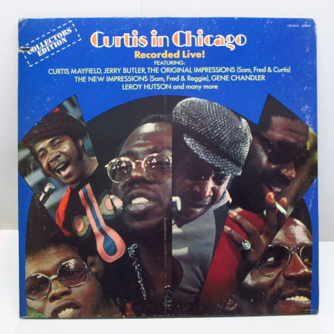 CURTIS MAYFIELD - Curtis In Chicago / Recorded Live (US 70's 2nd Press)