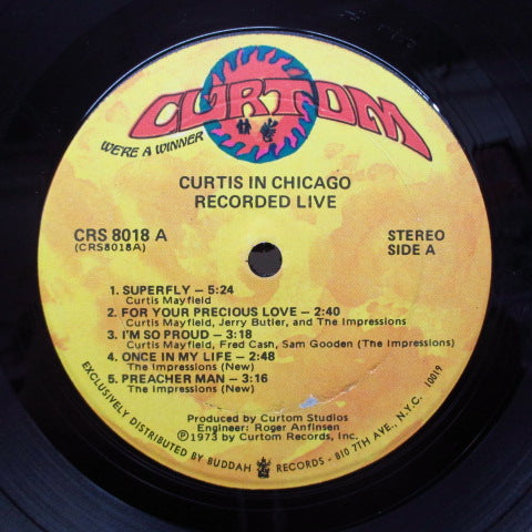 CURTIS MAYFIELD-Curtis In Chicago / Recorded Live (US 70's 2nd Press)