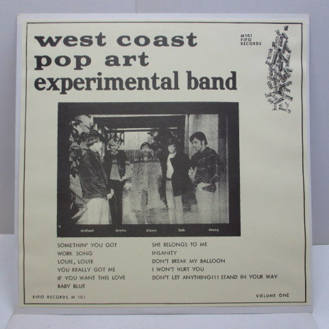 WEST COAST POP ART EXPERIMENTAL BAND - Volume 1 (US '94 Limited Reissue)