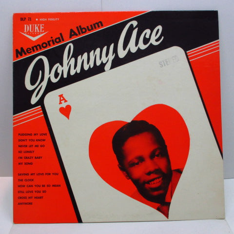JOHNNY ACE - Memorial Album For Johnny Ace (US '61 Re Stereo/Stereo Stamp CS)