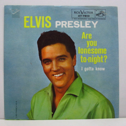 "ELVIS PRESLEY - Are You Lonesome Tonight? (US Orig.7""+PS)"