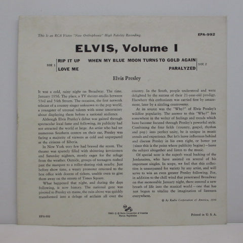 ELVIS PRESLEY - Elvis Volume 1 (US Orig.EP/Lined Label)