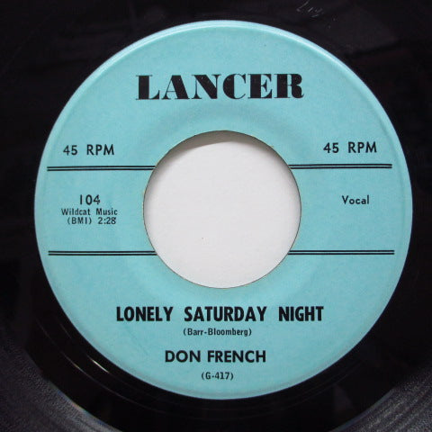 DON FRENCH - Lonely Saturday Night (Orig)