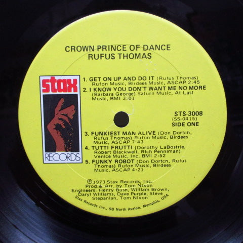RUFUS THOMAS - Crown Prince Of Dance (US Orig. Stereo LP)