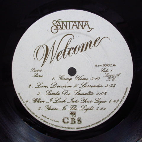SANTANA - Welcome (UK Orig.LP/Embossed GS)
