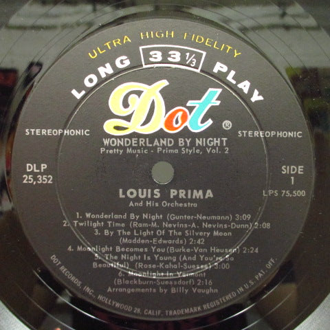 LOUIS PRIMA - Wonderland By Night:Pretty Music Prima Style Vol.2 (US Orig.Stereo LP)