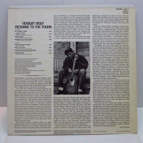 HOWLIN' WOLF - Message To The Young (UK Orig.Stereo LP/CS)