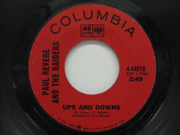 PAUL REVERE & THE RAIDERS - Ups And Downs / Leslie (US Orig.)