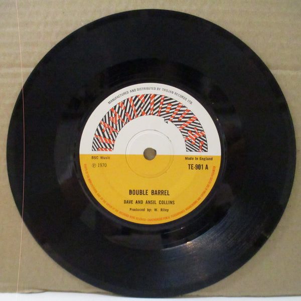 "DAVE & ANSIL COLLINS - Double Barrel (UK Orig.Flat Centre 7"")"