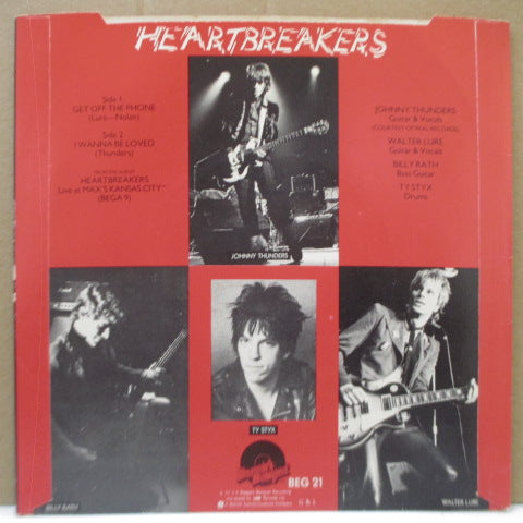"(JOHNNY THUNDERS & THE) HEARTBREAKERS - Get Off The Phone (UK Orig.7""/BEG 21)"