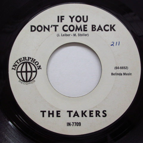 TAKERS (UNDERRAKERS) - If You Don't Come Back (US:PROMO)