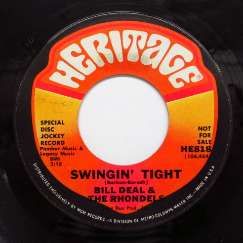 BILL DEAL & THE RHONDELS - Swingin' Tight (US:PROMO)