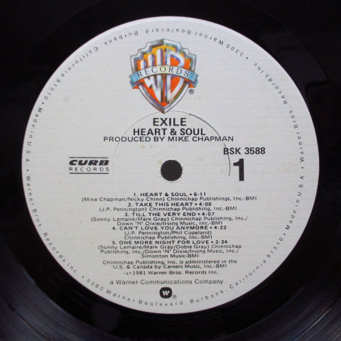 EXILE (エグザイル)  - Heart & Soul (US Orig.LP)