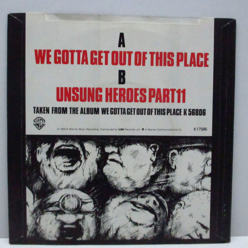 "ANGELIC UPSTARTS (エンジェリック・アップスターツ)  - We Gotta Get Out Of This Place (UK Orig.7"")"