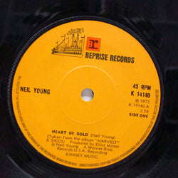 "NEIL YOUNG (ニール・ヤング)  - Heart Of Gold (UK Orig.Flat Center 7"")"