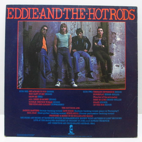 EDDIE AND THE HOT RODS - Teenage Depression (UK Orig.LP+Poster)