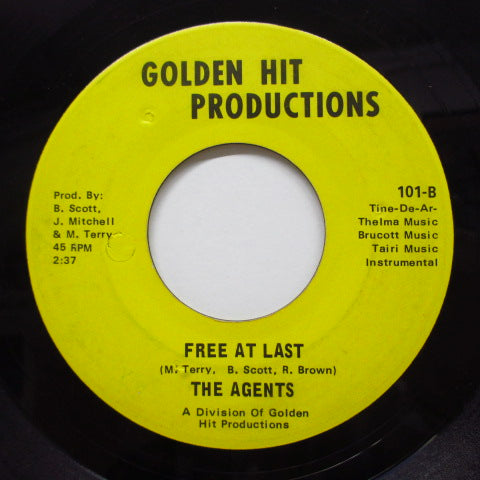 JAMES BARNES & THE AGENTS - Free At Last (Great Day A-Comin)