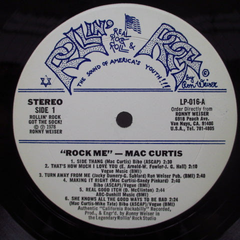 MAC CURTIS - Rock Me! (US Orig)