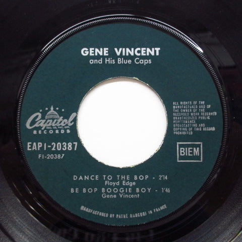 GENE VINCENT - Dance To The Bop +3 (France Orig.EP/CFS)