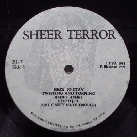 SHEER TERROR - Just Can't Hate Enough (US Reissue LP)