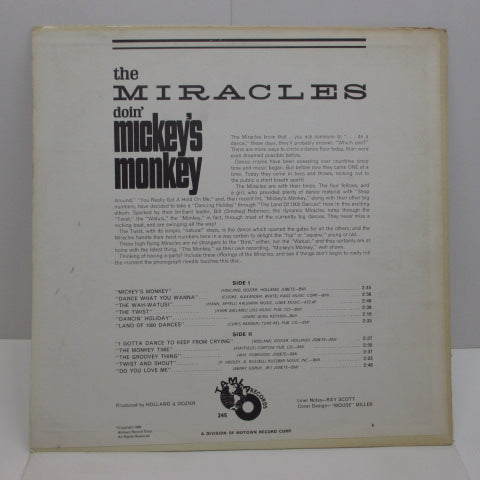 MIRACLES (SMOKEY ROBINSON & THE) - Doin' Mickey's Monkey (US:Orig.MONO)