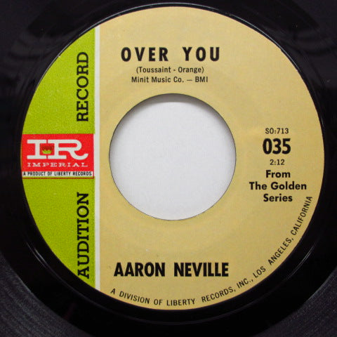 AARON NEVILLE - Over You  (Imperial Promo)