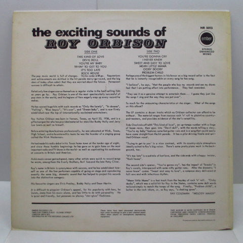 ROY ORBISON - The Exciting Sounds Of (UK 70's Reissue Mono/CS)