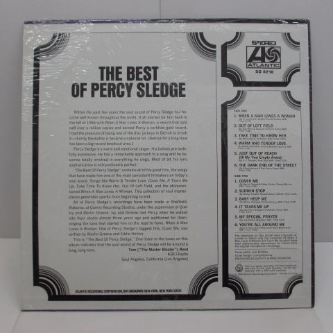 PERCY SLEDGE - The Best Of Percy Sledge (US:70's Re STEREO)