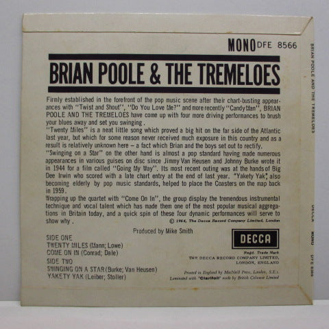 BRIAN POOLE & THE TREMELOES - Brian Poole And The Tremeloes (UK:EP)