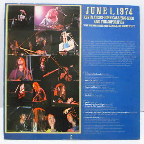 KEVIN AYERS / JOHN CALE / ENO / NICO - June 1, 1974 (UK 70's Re Blue Lbl.LP)