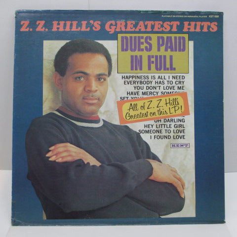 Z.Z. HILL - Greatest Hits Dues Paid In Full (US:70's Press MONO)