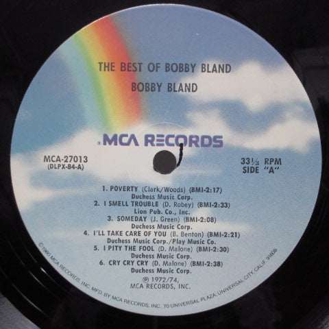 BOBBY BLAND-The Best Of Bobby Bland (US: 80's Re)