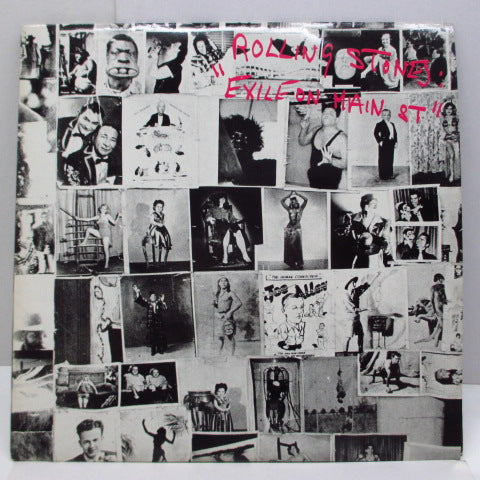 ROLLING STONES - Exile On Main St. (UK 80's Re 2xLP/Barcode Single CVR)