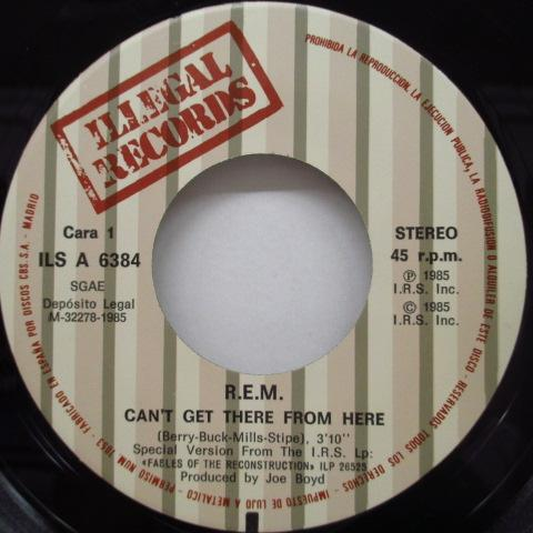 "R.E.M. - Can't Get There From Here (Spain Orig.7"")"