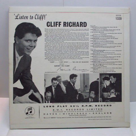 CLIFF RICHARD  - Listen To Cliff ! (UK Orig.Mono LP/CFS)