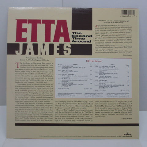 ETTA JAMES - The Second Time Around (US:80's Re/Barcord Sleeve)