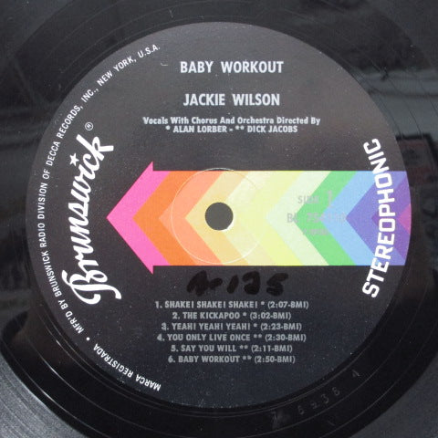 JACKIE WILSON - Baby Workout (US:2nd Press STEREO)