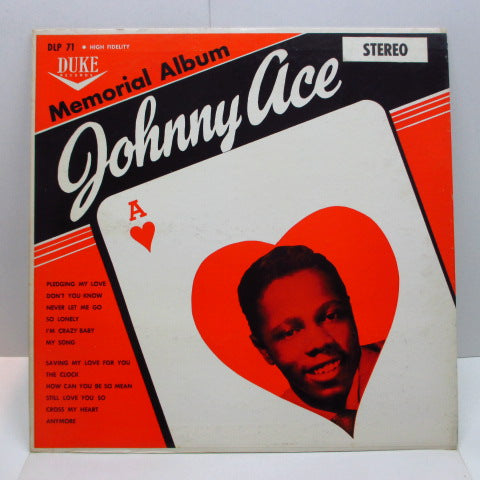 JOHNNY ACE - Memorial Album For Johnny Ace (US '61 Re Stereo LP/Matt CVR+Stereo Sticker)