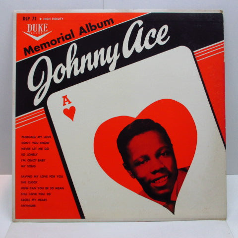JOHNNY ACE - Memorial Album For Johnny Ace (US '61 Re Mono LP/Matt CVR)