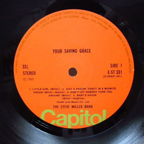 STEVE MILLER BAND - Your Saving Grace (UK 70's Reissue/CS)