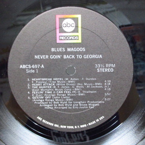 BLUES MAGOOS - Never Goin' Back To Georgia (US Orig.Stereo LP)