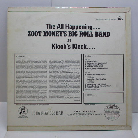 ZOOT MONEY'S BIG ROLL BAND - Zoot ! (UK Orig.Mono/CFS)