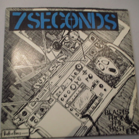 "7 SECONDS - Blasts From The Past E.P. (US 2nd Press Blue Vinyl 7""+Hard PS)"