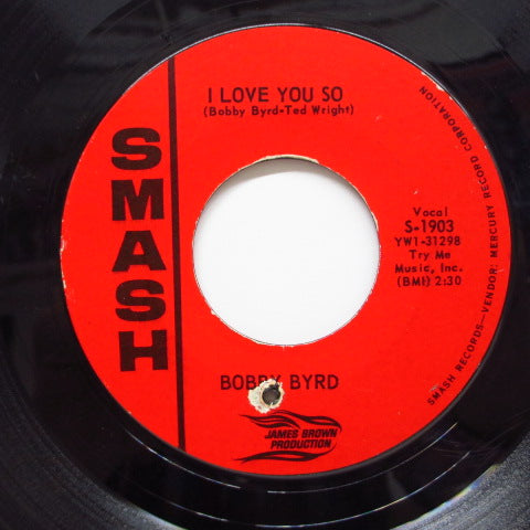 BOBBY BYRD - Write Me A Letter / I Love You So