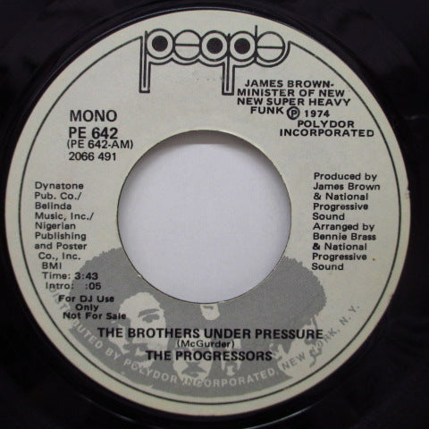 PROGRESSORS - The Brothers Under Pressure (Promo)